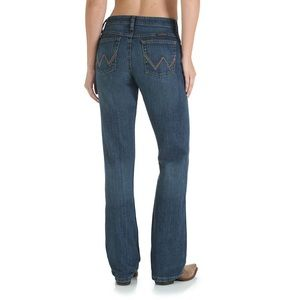 Wrangler Q-Baby Mid Rise Boot Cut Riding Jeans